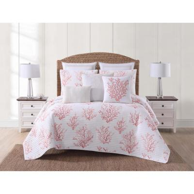 Cove Coral Twin XL Quilt Set