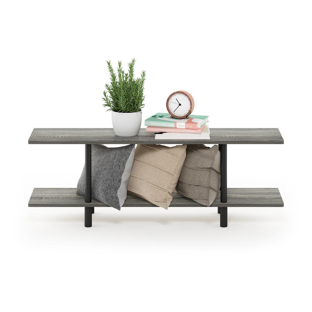 Turn-N-Tube French Oak Grey 2-Tier Multi-Purpose Wide Shelf