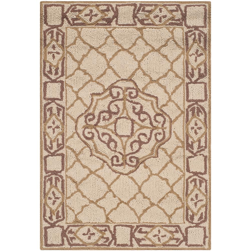 Safavieh easy care ivory gold 2 ft x 3 ft area rug for Easy rugs