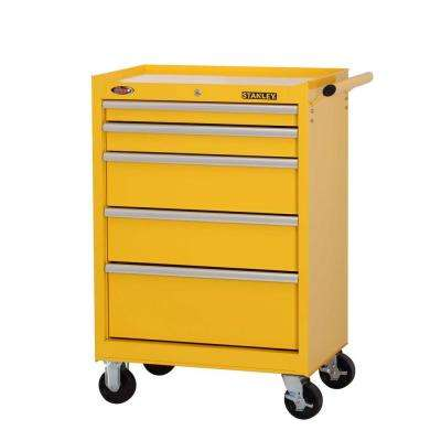 27 in. W 5-Drawer Tool Cabinet, Yellow