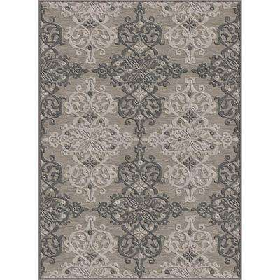 Bellatrix Gray 7 ft. 8 in. x 10 ft. 3 in. Area Rug
