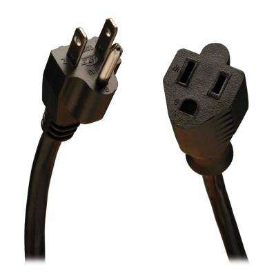 10 Amp 25 ft. 18AWG Standard Power Extension Cord, Black