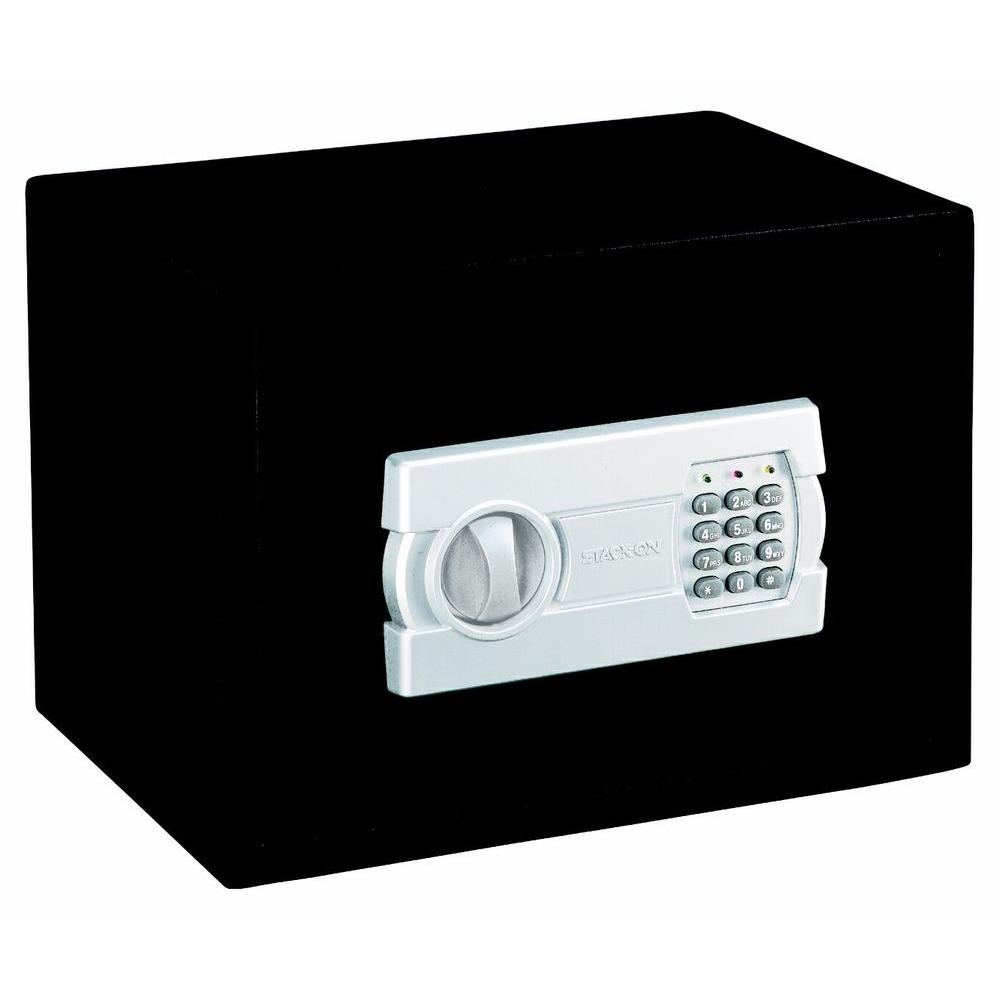 Stack-On Medium Personal Safe with Electronic Lock and Shelf, Black