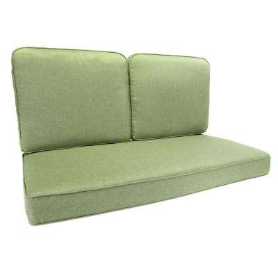 Fall River Moss Replacement Outdoor Loveseat Cushion