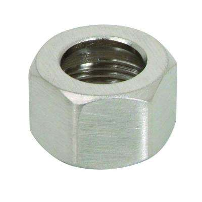3/8 in. O.D. Compression Nut in Satin Nickel