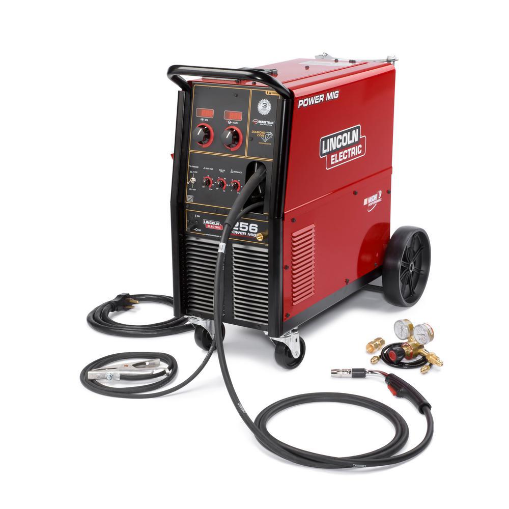 300 Amp Power MIG 256 MIG Wire Feed Welder with Magnum Pro 250L 230- Volt/460-Volt/575-Vott