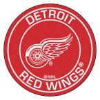 NHL Detroit Red Wings Red 2 ft. x 2 ft. Round Area Rug