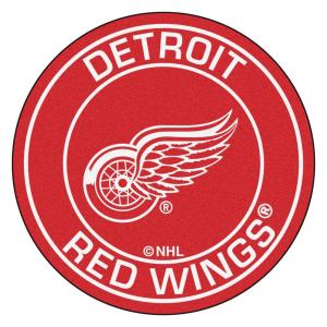 free shipping e015c 252f9 FANMATS NHL Detroit Red Wings Red 2 ft. x 2 ft. Round Area Rug-18871 - The  Home Depot