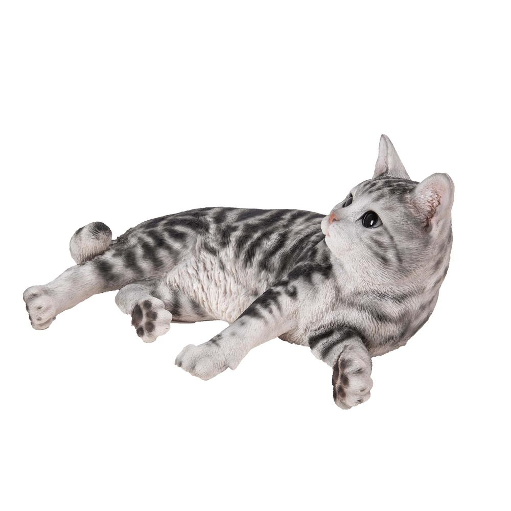 Hi Line Gift American Shorthair Cat Lying Down Statue