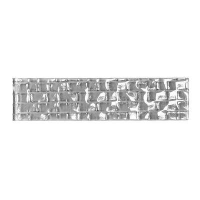 Metro Cubes Pebble Gray 2 in. x 8 in. Glass Wall Tile (1 sq. ft. / pack)
