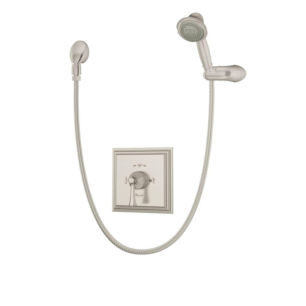 Canterbury 3-Spray Hand Shower in Satin Nickel (Valve Included)