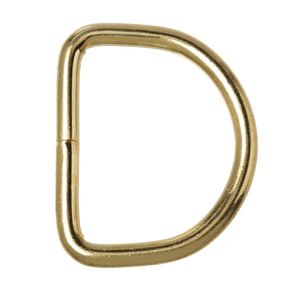 Everbilt 1-1/8 in. Brass D-Ring