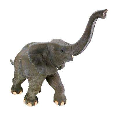 61 in. H Good Luck Trunk Up Baby Elephant Statue