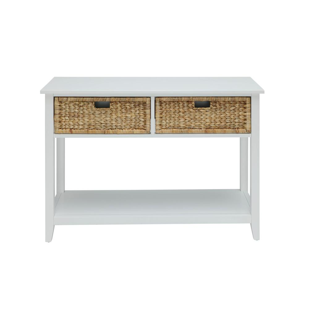 Acme Furniture Flavius Console Table In White