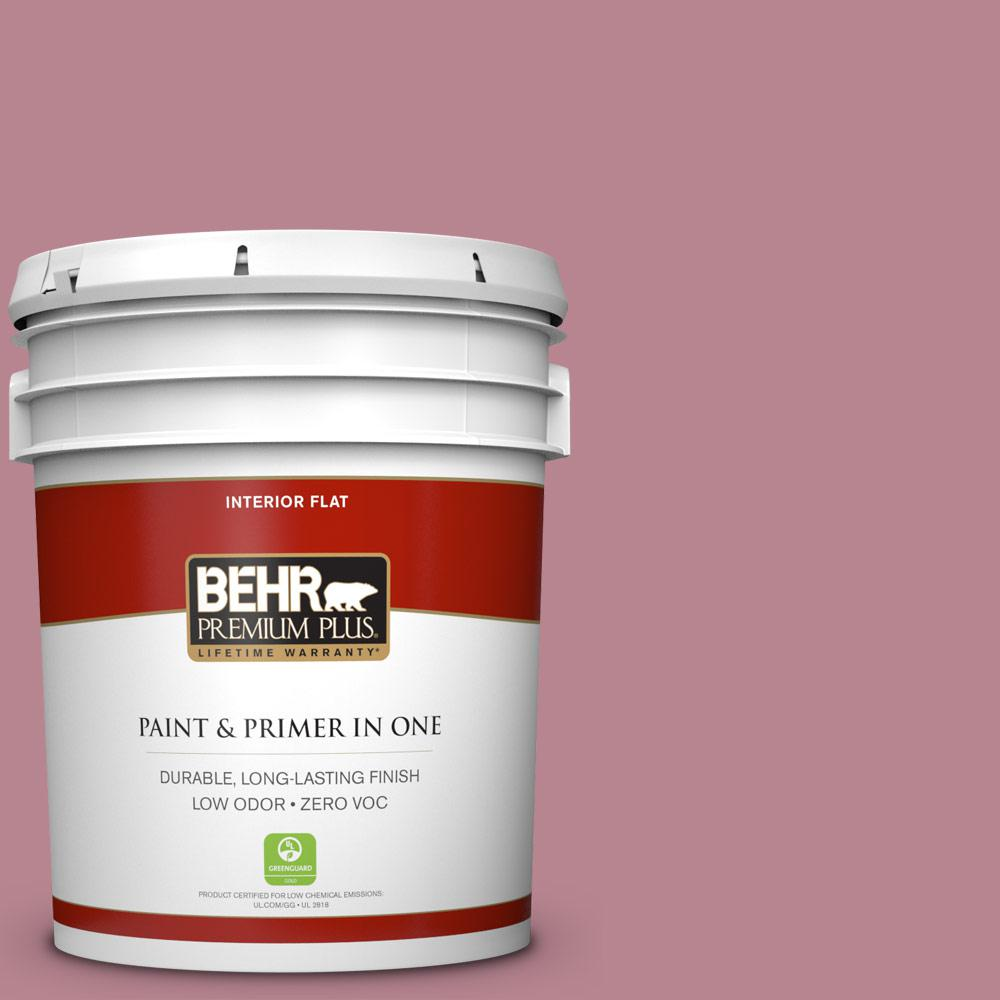 BEHR Premium Plus 5-gal. #BIC-19 Berry Blush Flat Interior Paint