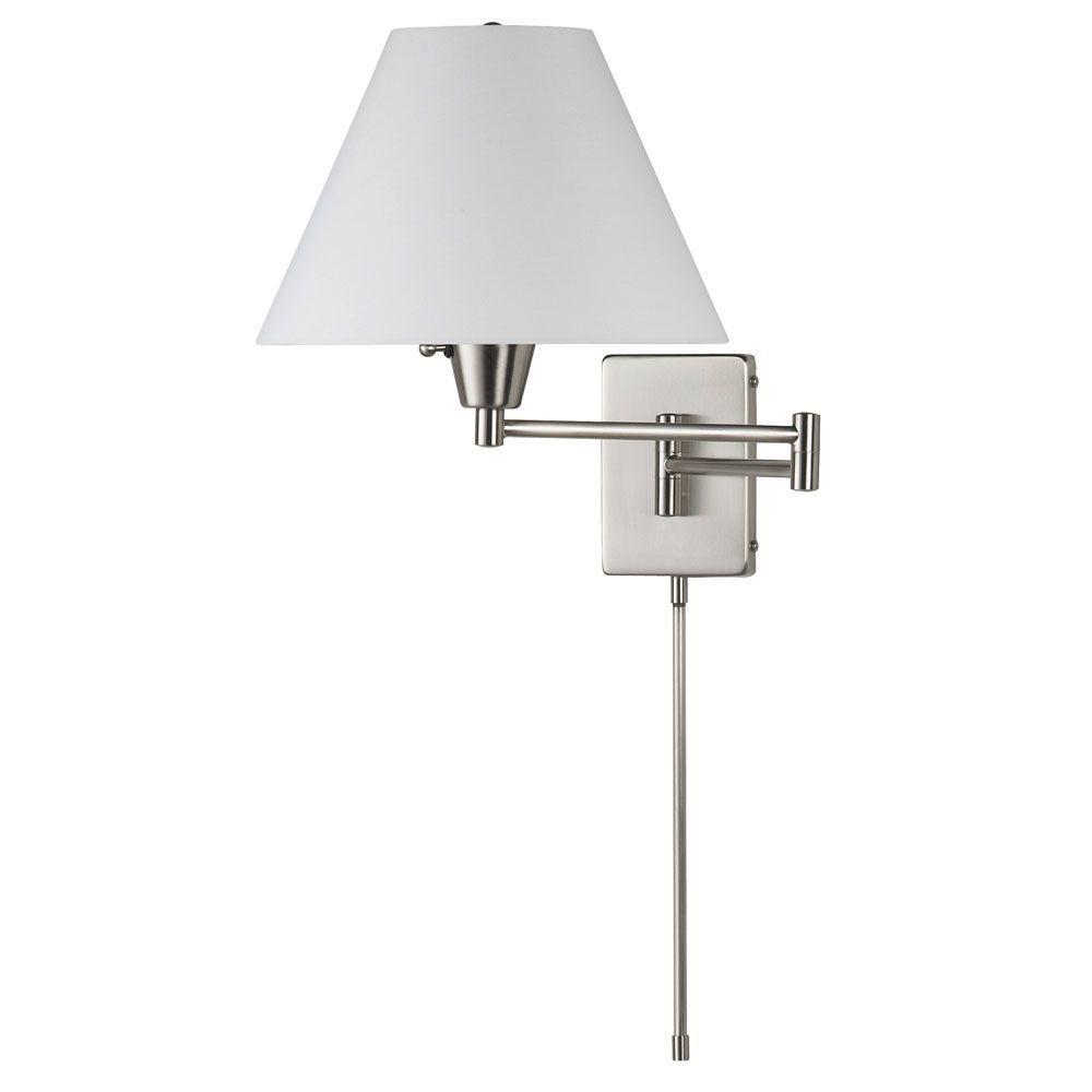 Denny 2-Light Satin Chrome Wall Lamp