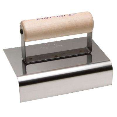 6 in. x 6 in. Stainless Steel Hand Edger Wood Handle