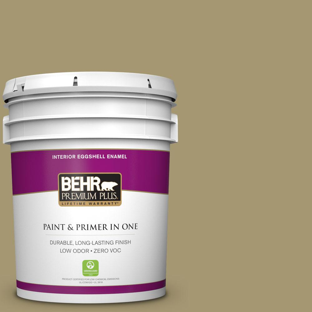 5-gal. #S330-5 Dried Chive Eggshell Enamel Interior Paint