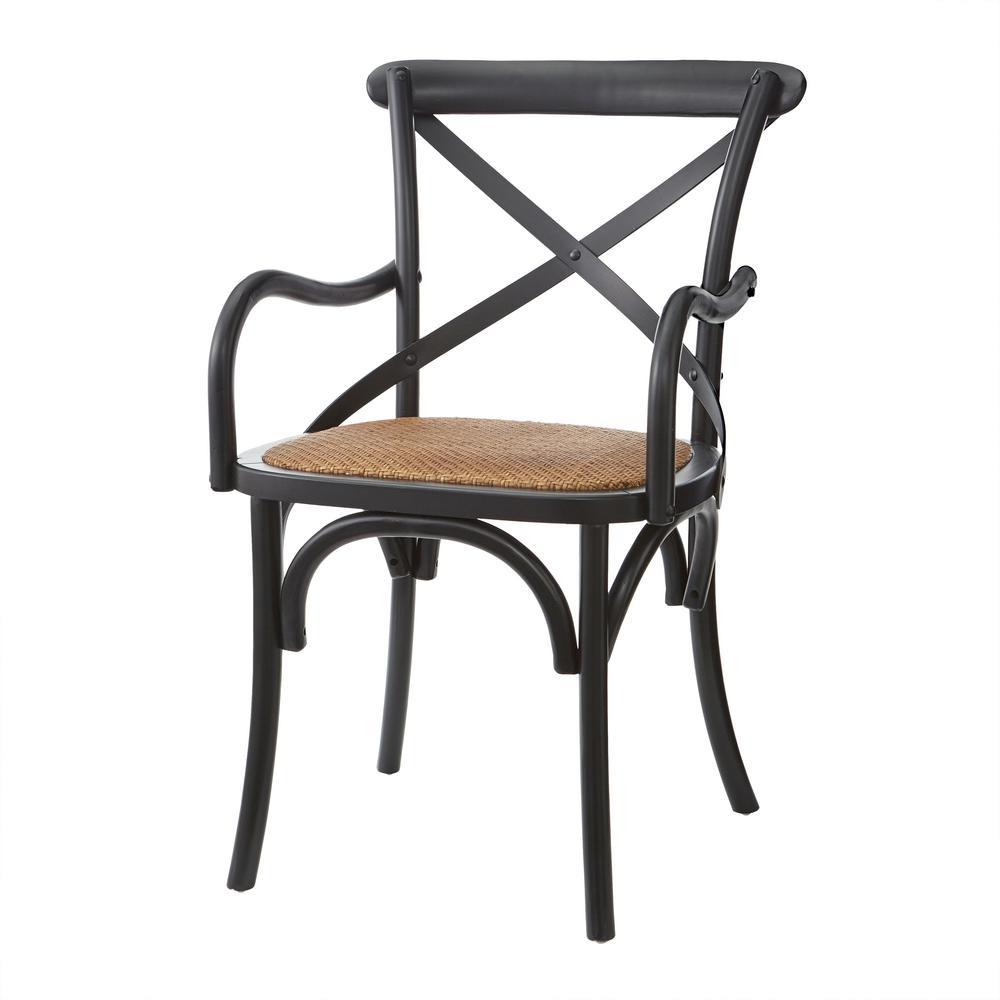 Merveilleux Hyde Black Cafe Dining Arm Chair