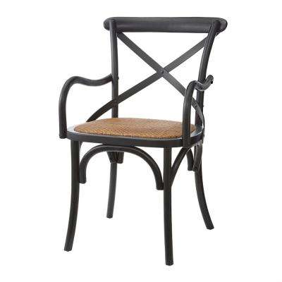 Hyde Black Cafe Dining Arm Chair