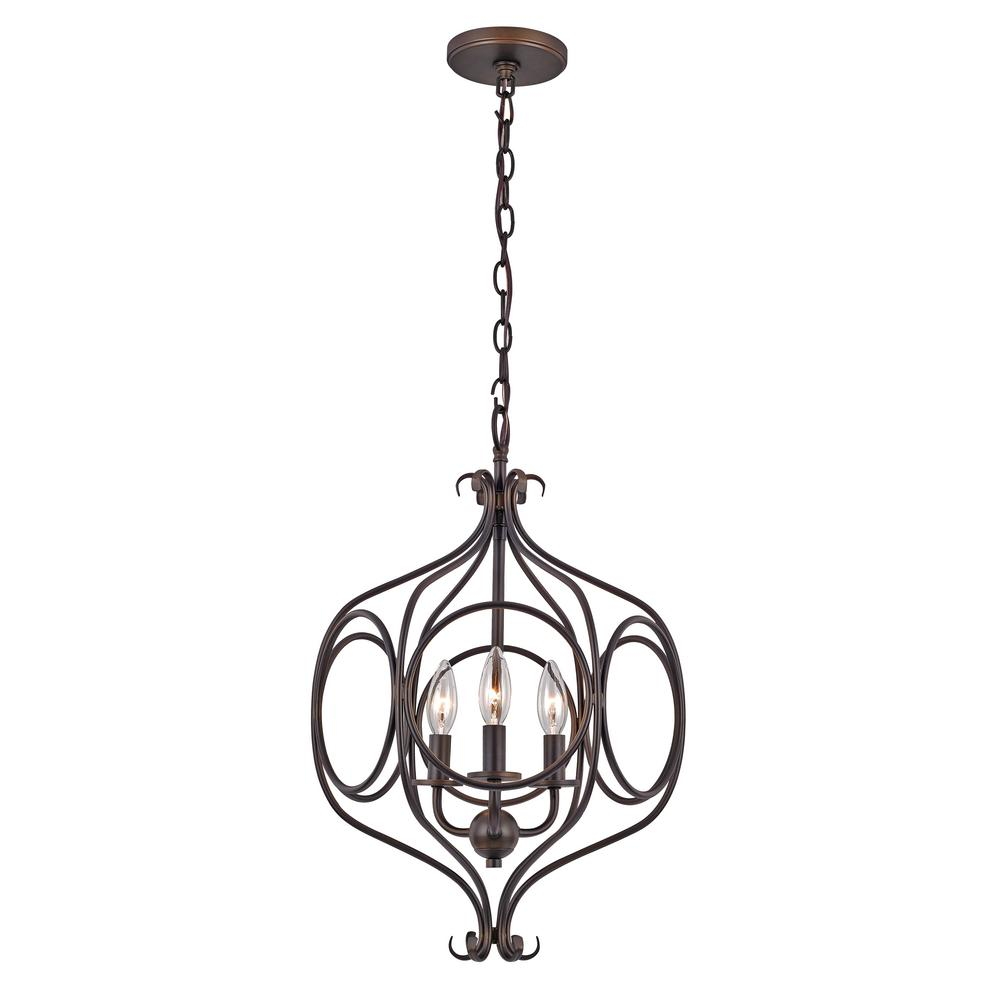 BEL-AIR LIGHTING 3-Light Rubbed Oil Bronze Pendant was $310.87 now $162.84 (48.0% off)
