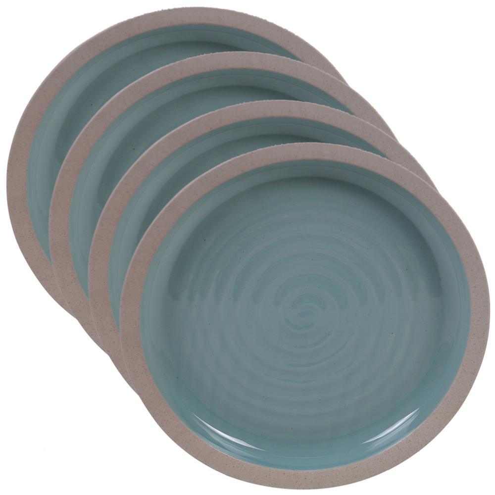 Certified International Artisan Teal Dinner Plate (Set of 4) 13827SET4