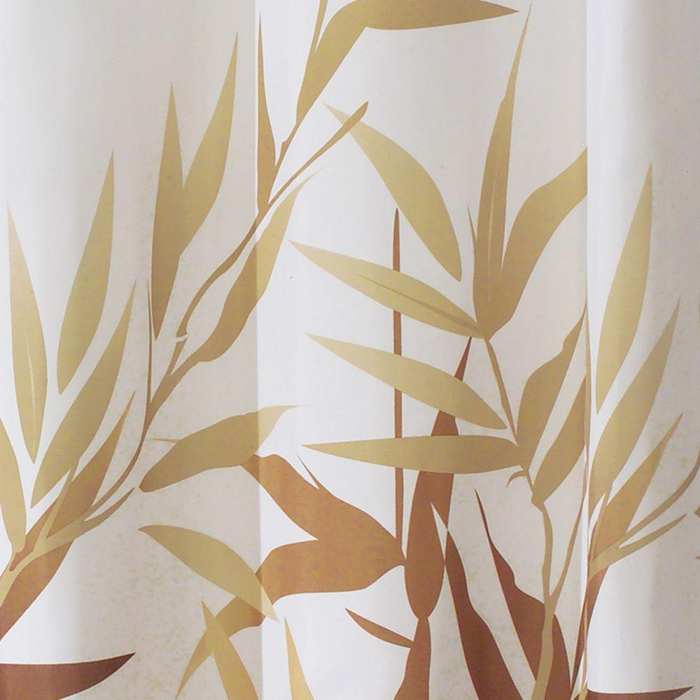 Interdesign Anzu Shower Curtain In Brown With White Background