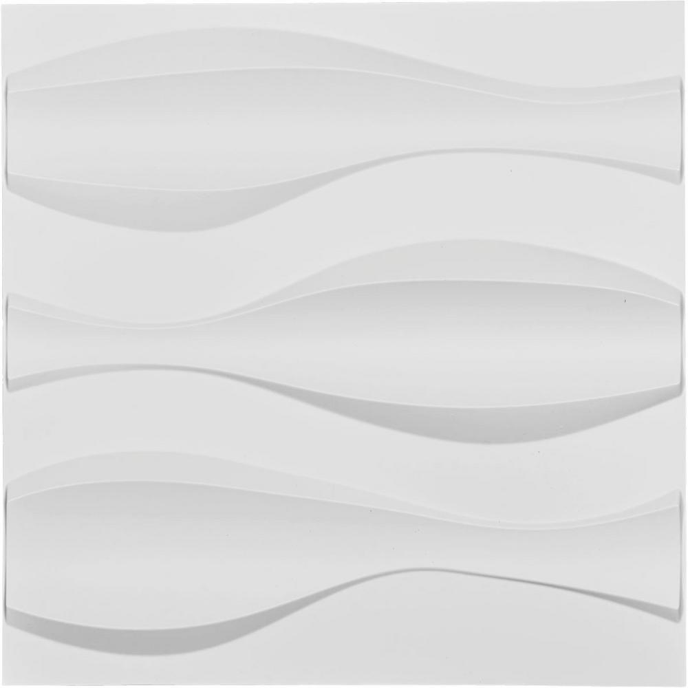 Ekena Millwork 1 in. x 19-5/8 in. x 19-5/8 in. White PVC Thompson EnduraWall Decorative 3D Wall Panel