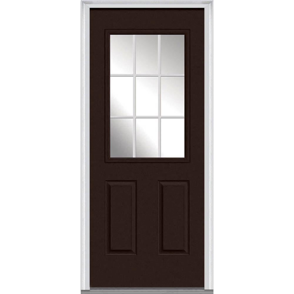 Mmi Door 30 In X 80 In Grilles Between Glass Right Hand 1 2 Lite 2 Panel Classic Painted
