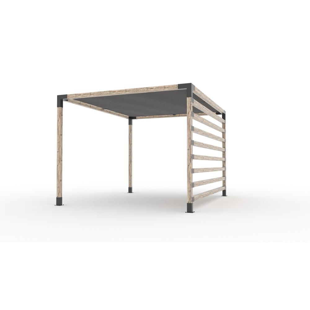 TOJAGRID 8 ft. x 8 ft. Pergola Kit with 4x4 KNECT Post ...