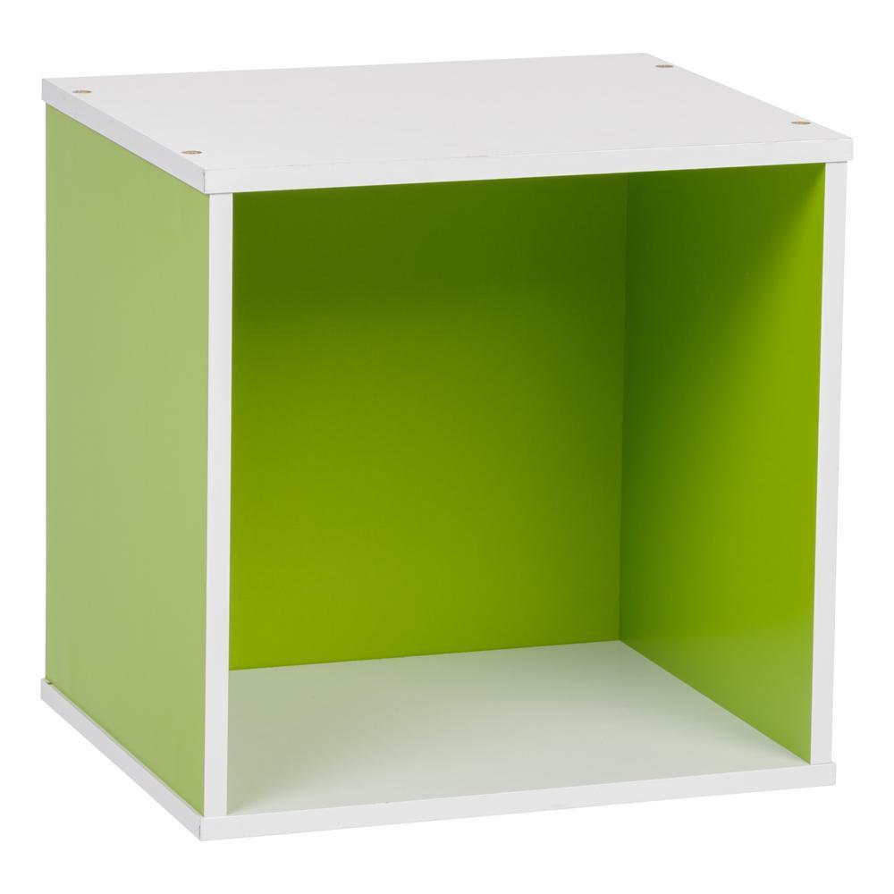 BAKU Green Modular Wood Cube Box