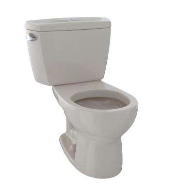 Drake 2-Piece 1.6 GPF Single Flush Round Toilet with Insulated Tank and Bolted Tank Lid in Bone