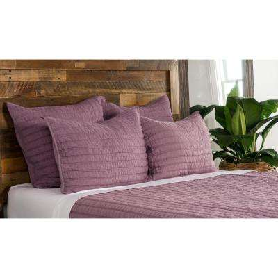 Heirloom Linen Quilted Orchid Euro Sham 26x26