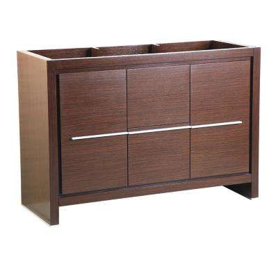 Allier 48 in. Modern Bathroom Vanity Cabinet in Wenge Brown