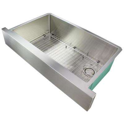 Diamond Farmhouse/Apron-Front Stainless Steel 36 in. Single Bowl Kitchen Sink in Brushed