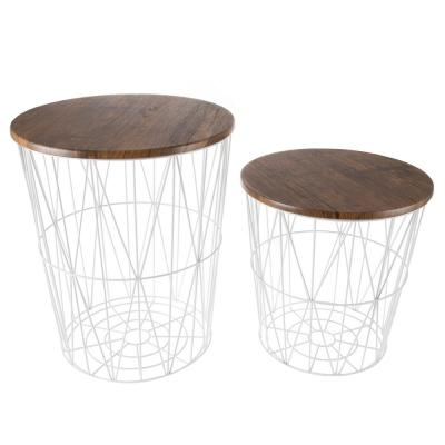 Nesting White Coffee Tables Accent Tables The Home Depot