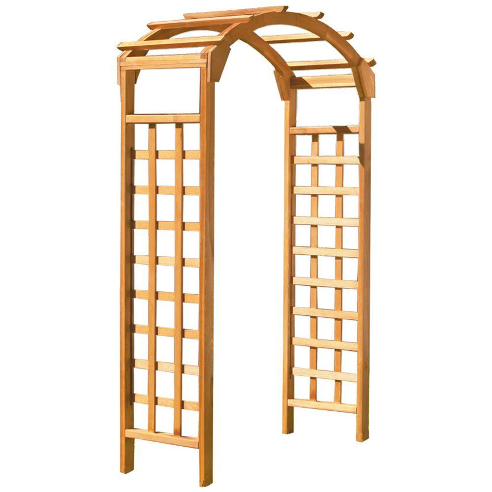 Greenstone Natural Arch 84 in. x 48 in. Outside Wooden Garden Arbor ...