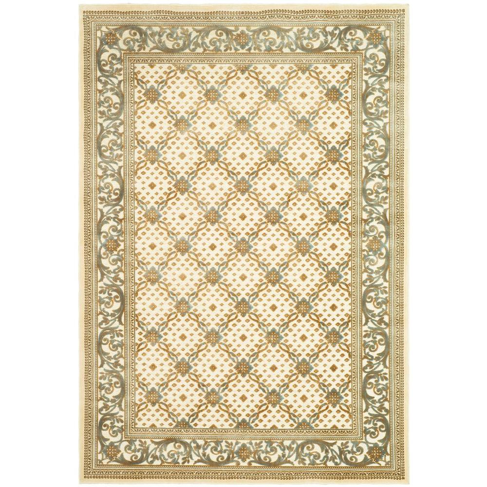 Paradise Cream 4 ft. x 5 ft. 7 in. Area Rug