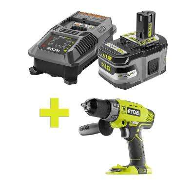 18-Volt ONE+ Lithium-Ion LITHIUM+ HP 6.0 Ah Starter Kit w/ Bonus ONE+ 1/2 in. Hammer Drill/Driver with Handle