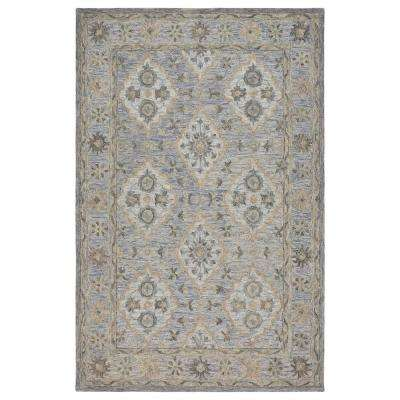 Modern Traditions Ice Blue 8 ft x 10 ft. Indoor Area Rug