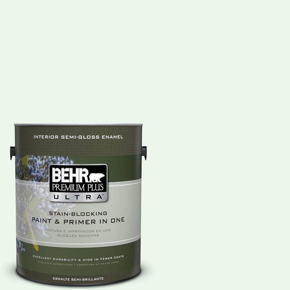 1 gal. #440A-1 Parsnip Semi-Gloss Enamel Interior Paint and Primer in