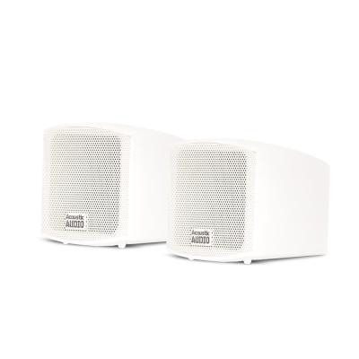 Theater Solutions TS38W Mountable Indoor Outdoor Speakers White Bookshelf Pair