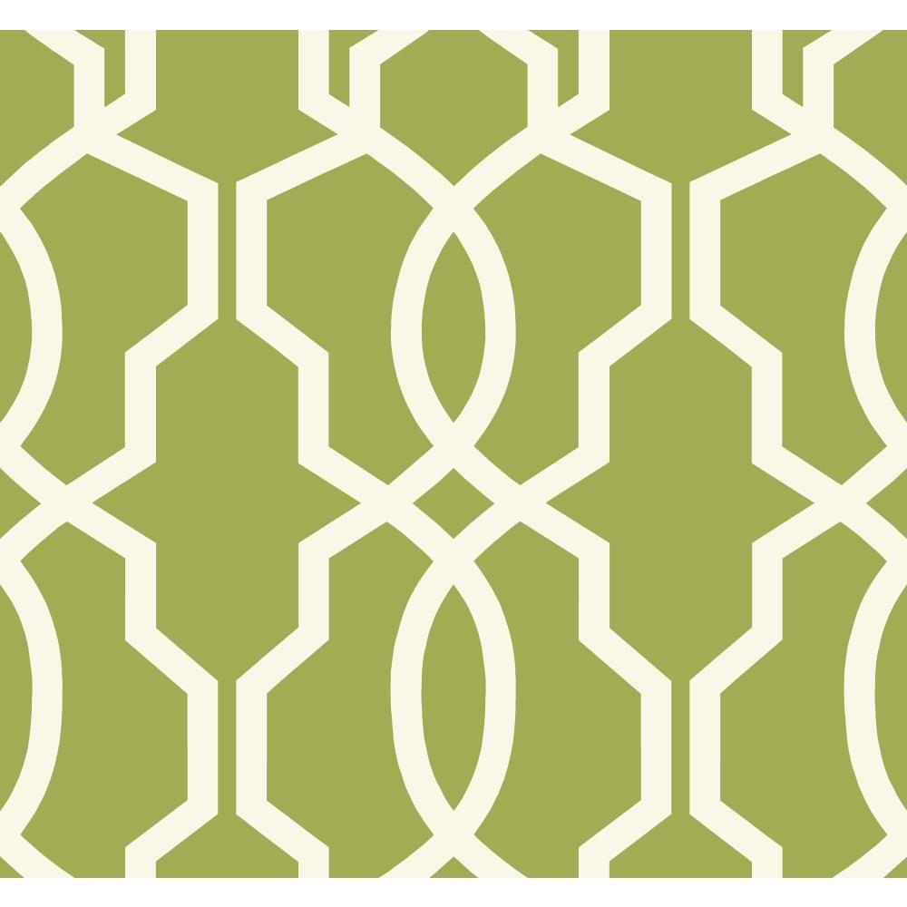 York Wallcoverings Ashford Geometrics Hourglass Trellis Wallpaper ...