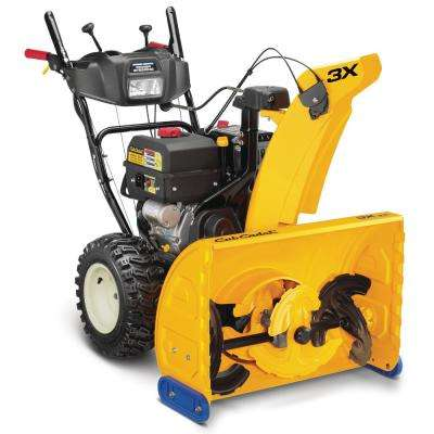 3X 28 in. 357cc Three-Stage Electric Start Gas Snow Blower with Steel Chute, Power Steering and Heated Grips