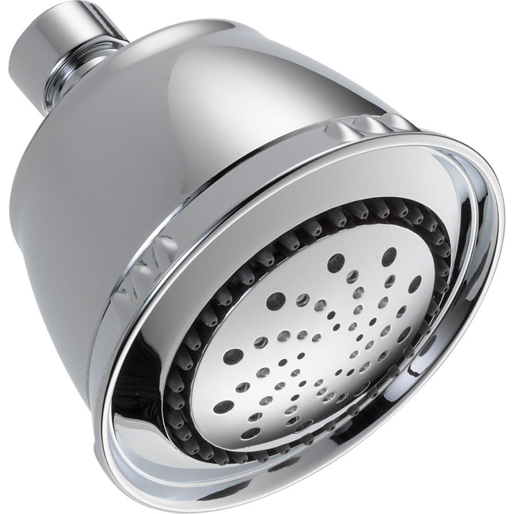 Delta Touch-Clean 5-Spray 3 1/2 in. Fixed Shower Head in Chrome ...