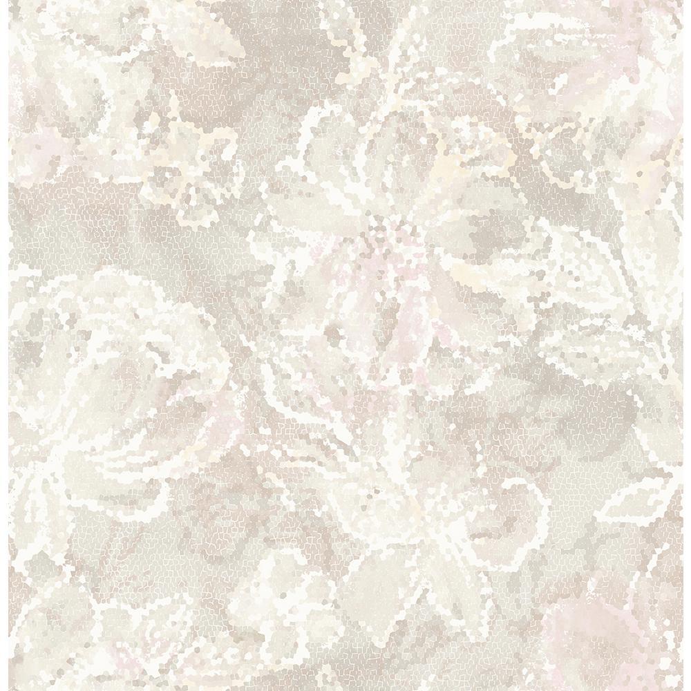 56.4 sq. ft. Allure Blush Floral Wallpaper