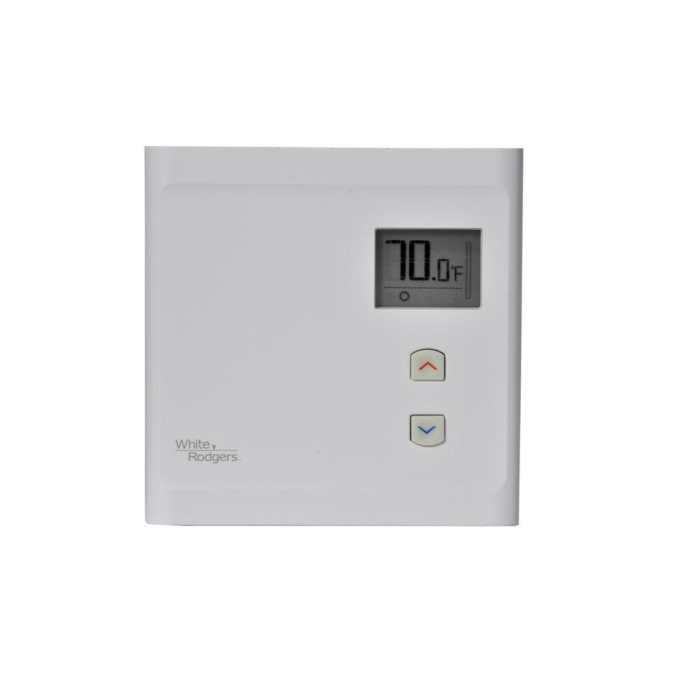 white rodgers electronic line voltage non programmable thermostat bnp125 the home depot. Black Bedroom Furniture Sets. Home Design Ideas