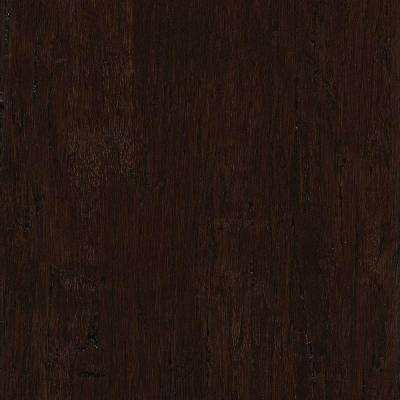 Take Home Sample - Hand Scraped Distressed Strand Woven Russet Click Lock Bamboo Flooring - 5 in. x 7 in.