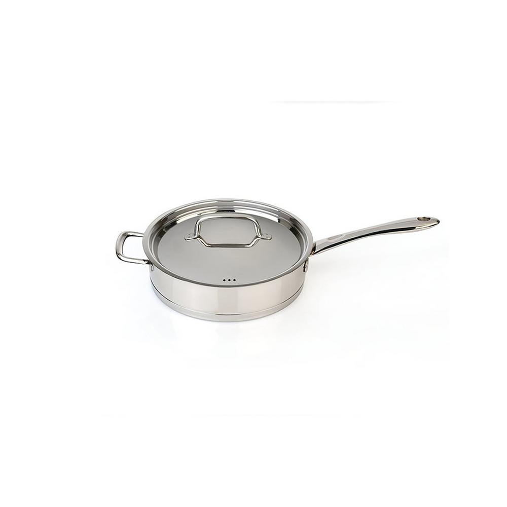 CollectNCook 18/10 Stainless Steel Deep Skillet with Lid