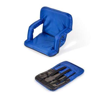 Portable Multiuse Adjustable Blue Recliner Stadium Seat